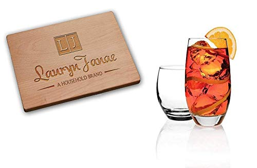 Lauryn Janae Premium Reality Classic Glassware 8-Piece Barware, Drinkware Glasses (Set of 8) ()