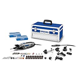 Dremel 4300-9/64 High Performance Rotary Tool Kit with Universal 3-Jaw Chuck, 9 Attachments and 64 Accessories