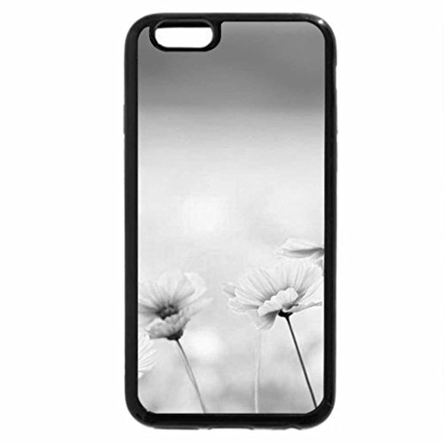 iPhone 6S Plus Case, iPhone 6 Plus Case (Black & White) - Flowers