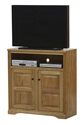 "Eagle Oak Ridge Tall Raised Panel Door TV Console, 39"" Wide, Dark Oak Finish"