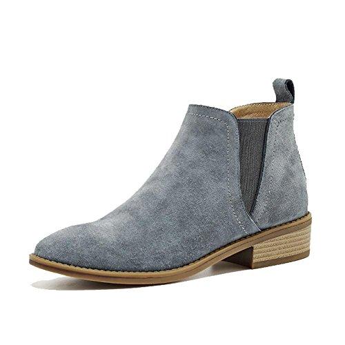 Delle Pelle Signore Caviglia Di Confortevoli Casual Scamosciata gray In Pelle Basse Scarpe Elastiche Scarpe Scarpe In Calde vwIttgqn
