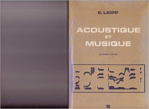 Lire en ligne Acoustique et musique epub, pdf
