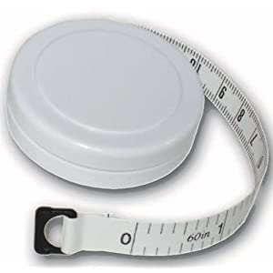 "1.5m/60"" Round Fabric Tape Measure with Casing 16"