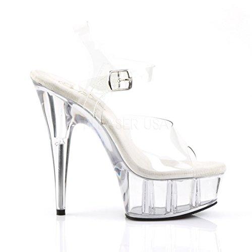 PleaserUSA Womens Platform Sandals Delight-608 Clear 8PRWLU6d