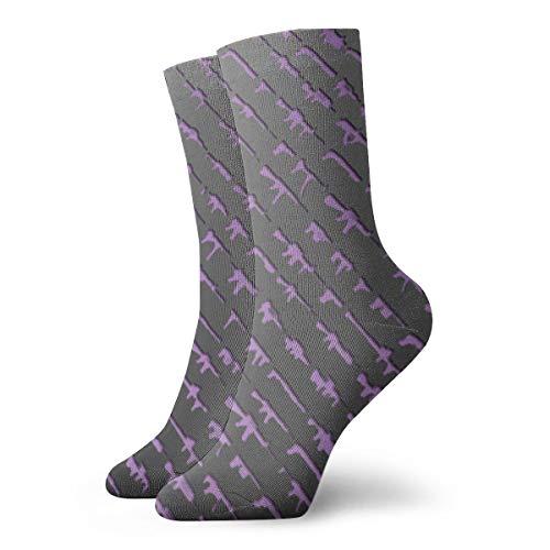 Field Rain Gun Unisex Casual Stockings Sport Athletic Crew Socks