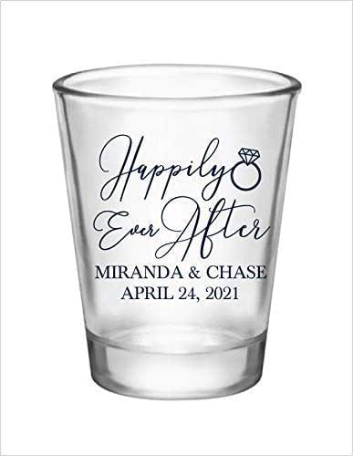 Clear or Frosted Personalized Wedding Shot Glasses Custom Wedding Favors Wedding Party Shot Glasses All You Need Is Love /& A Shot 1A