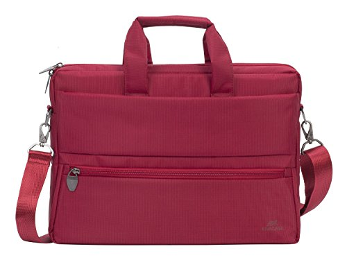 Rivacase 8630 15.6 Inch Laptop Bag Durable Water Resistant Red Color