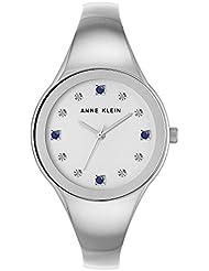 Anne Kleinn Womens Diamond Accent Silver-Tone Bangle Bracelet Watch 34mm AK/2861SASV