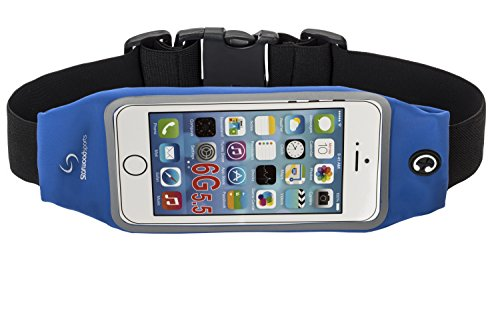 Running Belt Waist Pack for iPhone 6S/6/6 PLUS with Touchscreen Window (Blue, 5.5 Inches)