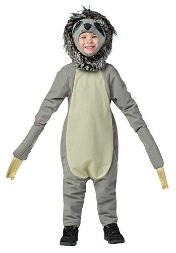 Rasta Imposta Boy's Sloth Outfit Funny Theme Fancy Dress Toddler Child Halloween Costume, Child M (7-10) Gray ()