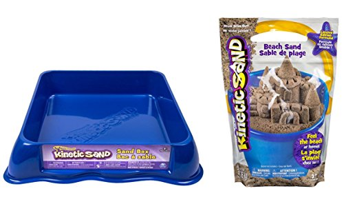 (Ultimate Kinetic Sand GIFT SET! Includes Sand Box & 3 lbs of Sand (Sandbox color will vary.))