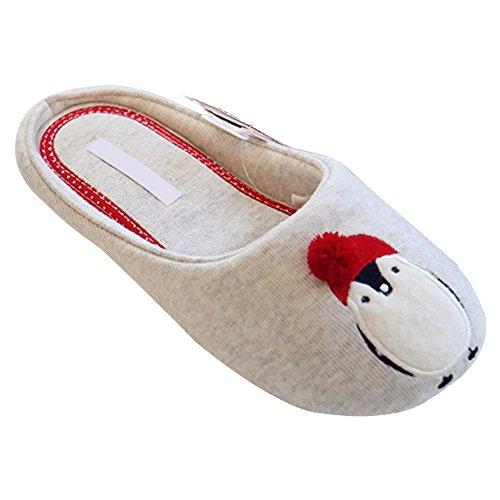 DULEE - Zapatillas de estar por casa para mujer gris