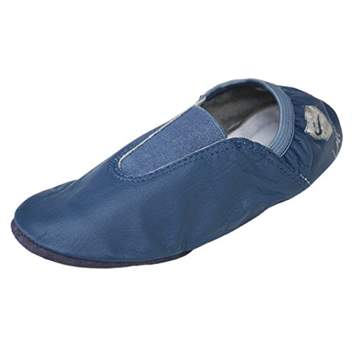 224GP Gym Shoes, Ballet shoes, shoes, House slippers, Dance shoes with Rubber pads Size 28-44 jens-blue