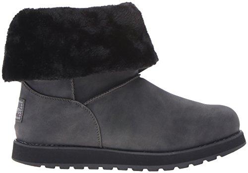 Botte Button Noir D'hiver Skechers Mid Noir Femme Blk Leatherette Keepsakes 4qn6SUA
