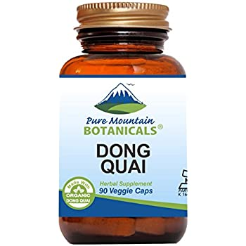Dong Quai Capsules - 90 Kosher Vegetarian Caps - Now with 500mg Organic Dong Quai Root Powder