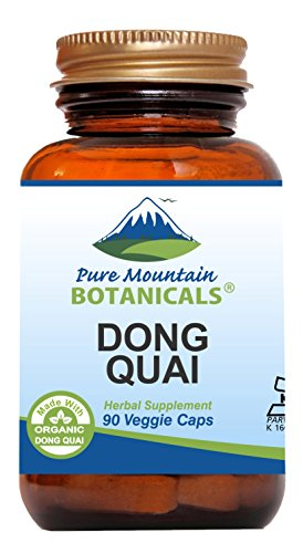 Dong Quai Capsules - 90 Kosher Vegan Caps with 500mg Organic Dong Quai Root