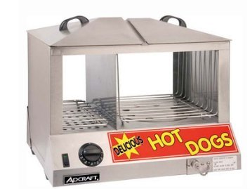Adcraft Countertop Stainless Steel Hot Dog Steamer, 6 Quart - 1 each.