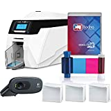 Magicard Rio Pro 360 Dual Sided ID Card Printer & Complete Supplies Package with Bodno Bronze Edition ID Software