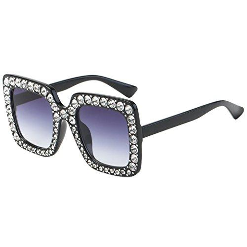 certainPL Unisex Sunglasses , Retro Mirror Lens Aviator Shades Diamond Cat Ear Sunglasses Anti-Reflection UV400 Traveling Glasses (D) Diamond Eyewear Sunglasses
