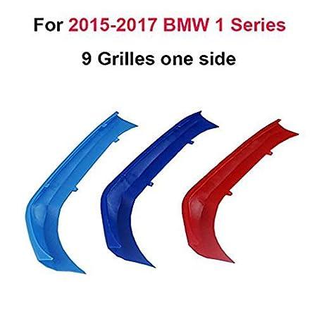 Pour B M W 1S/érie E87 2004-2011,12 Grilles Angle aigu Pour B M W 1-7 S/érie Calandres avant Ins/érez accessoires,M-Couleur Front Grille Trim Strips