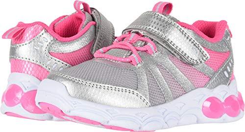 Stride Rite Mesh Sneakers - Stride Rite Girls' SR Lighted Kylie Sneaker, Pink/Metallic, 8 M US Toddler