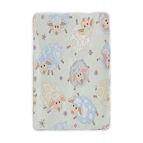 Jonassk Woolffk for Sheep Tshirt Soft Blanket All Season Comfort Super Soft Warm Plush Blanket Fuzzy Light Warm Wool Blanket Sofa Bed, 60x90 Inches