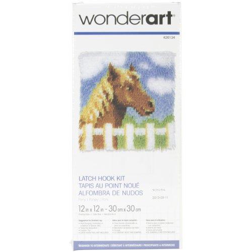 "Wonderart Pony Latch Hook Kit, 12"" X 12"""