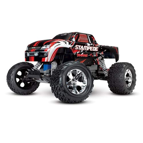 Traxxas Stampede 1/10 2WD Monster Truck with TQ 2.4GHz Radio, Red, 1:10 Scale (Traxxas Cars)
