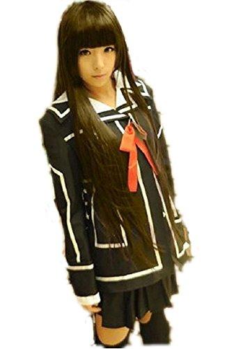 Vampire Knight Day Class Girl Costume (JUX Vampire Knight Yuki Cosplay Costume Night Class/Day Class Uniform Black M)
