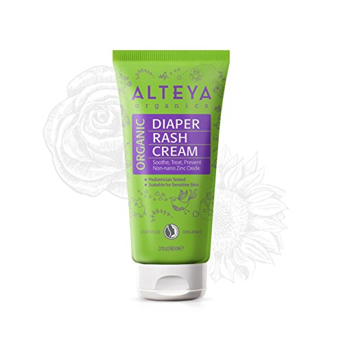 Alteya Organic Kids and Baby Diaper Rash Cream with Zinc Oxide 3fl.oz./90 ml - NaTrue Certified Organic AWARD WINNING Pure Natural Nappy Rash Treatment for Sensitive Baby Skin