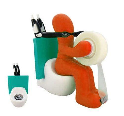 Figurines Pencil Santa (ARAD Funny Tape Dispenser, Desk Accessories-For Home or Office Spaces)