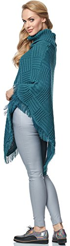 Merry Style Poncho para mujer MSSE0023 Lago Verde
