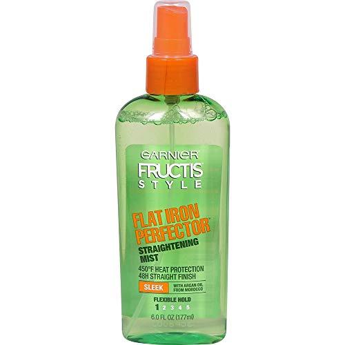 Garnier Fructis Style Sleek & Shine Flat Iron Perfector Straightening Mist 6 oz (Pack of 2) (Garnier Fructis Flat Iron Perfector Natural Hair)