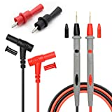 Silicone Multimeter Test Leads Kit, Precision Sharp Probe Test Lead 1000V 20A Gold-Plated Probe Leads with Alligator Clips, Banana Test Lead Probe Clip Suitable for Most of Digital Multimeter