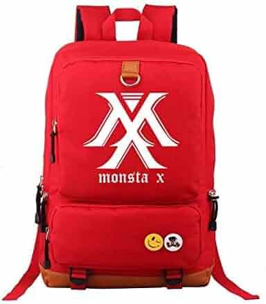 c15def8047 Kpop monsta x Backpack Student School Bag Laptop Backpack for Women Men  Children Boys Kids