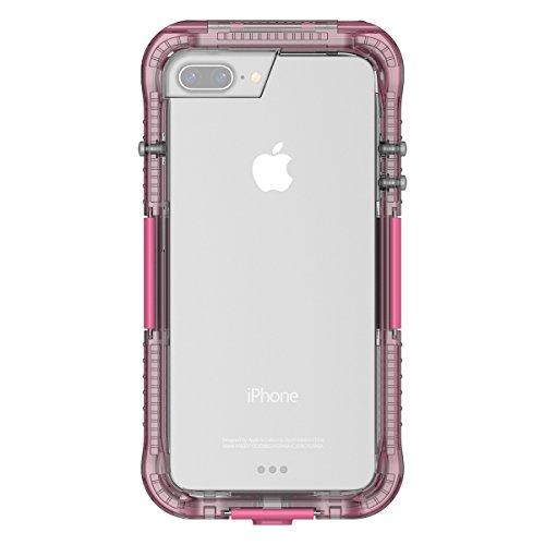 iPhone 7 Plus Wasserdichte Schutzhülle, Moonmini Heavy Duty Wasserdicht Stoßfest Schmutzfester Schnee Full Body Schutzhülle mit Gebühren Hafen & Berühren ID für iPhone 7 Plus - Rosa