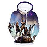 Tungly Hooded Sweatshirts Galaxy 3D Printed Pullover Couples Wear Gift for Christmas