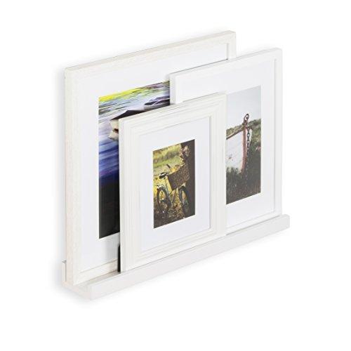- Wallniture Denver Modern Design Picture Ledge Display - Wall Mounted White Floating Shelf 22 Inch