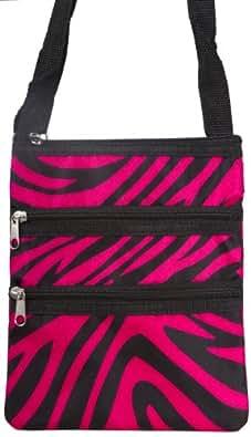 N.Gil Zebra Crossbody Swingpack Bag - Pink and Black
