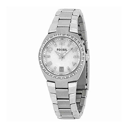Womens Fossil Bracelet Stainless Steel (Fossil Women's AM4141 Serena Silver-Tone Stainless Steel Watch with Link Bracelet)