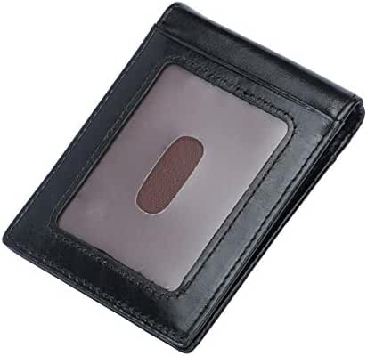 Men's 11 Cards Slots RFID Blocking Slim Wallet Small Leather Bifold Front Pocket Wallet