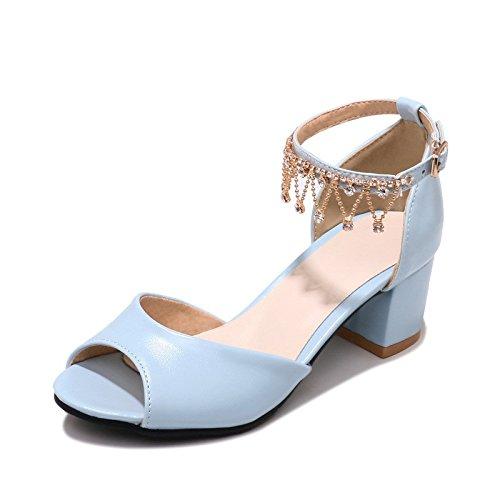 Verano expuesta con agua tamaño de broca para la hembra Sandals Princesa zapatos. dayblue