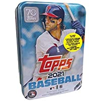 $27 » 2021 Topps Series 1 MLB Baseball Tin (75 cards/bx, Harper)