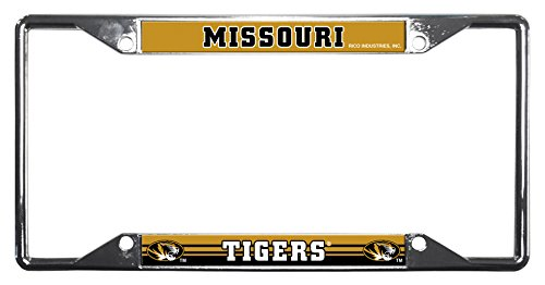 (Rico Industries NCAA Missouri Tigers Easy View Chrome License Plate Frame)