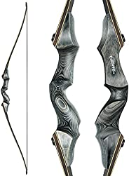 """Black Hunter Takedown Longbow 60"""" Archery Hunting Bow Adult Recurve Bow Right Hand American Longbow 30-60"""