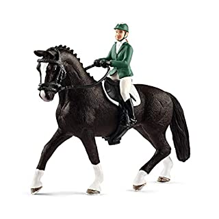 SCHLEICH Horse Club Showjumper with Horse Educational Figurine for Kids Ages 5-12