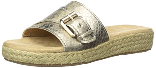 Aerosoles Women Glorify Platform Sandal Gold Snake