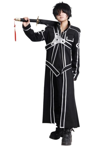 Cos2be SAO Anime Sword Art Online Kirito Cosplay Costume(SAO I,Men-XS)