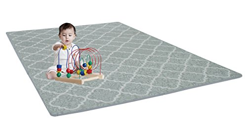 Stylish Baby Play Mat | Soft, Thick Interlocking Foam Tiles w/ Edges | Durable & Easy Clean | Children Toddler & Baby Safe | Portable Activity Tummy Time Playmat | Girls & Boys | 4ft x 6ft