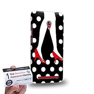 "Case88 [Asus Zenfone 6 6.0"" A600CG] 3D impresa Carcasa/Funda dura para & Tarjeta de garantía - Art High Heels And Dot Couple"